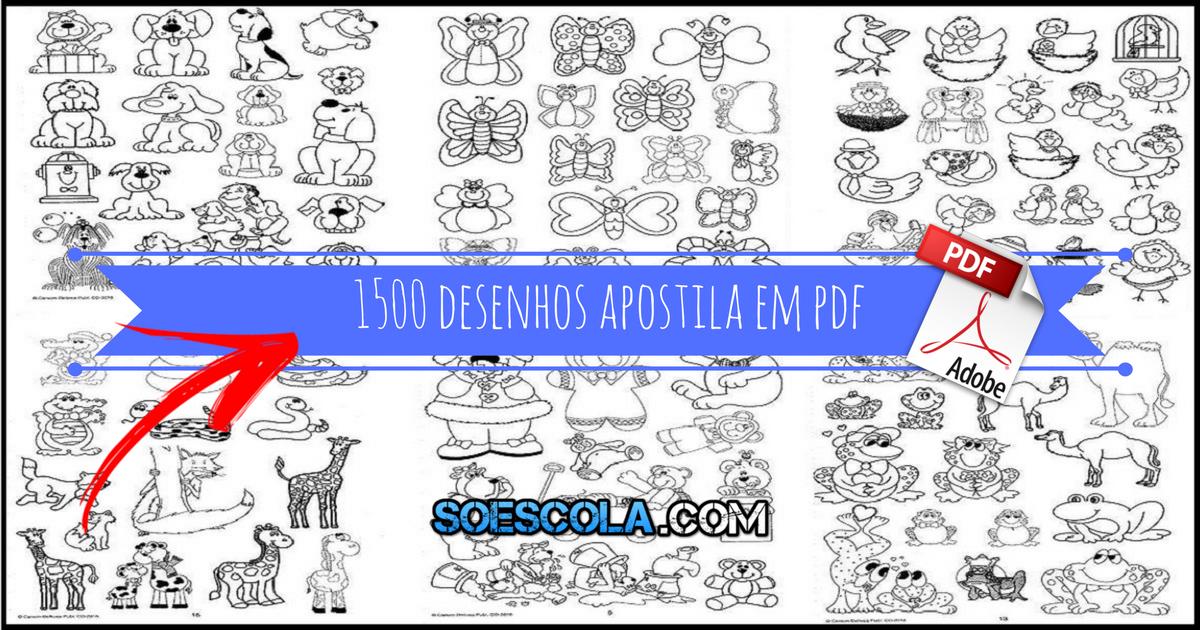 Apostila 1500 Desenhos Para Montar Atividades So Escola