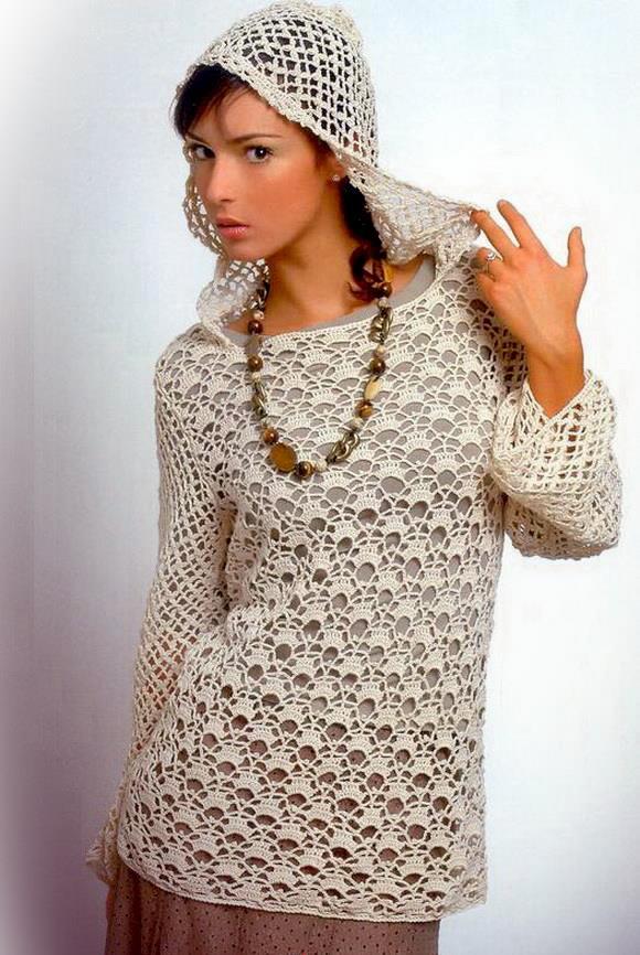 cc2010805987b Crochet Sweaters  Crochet Tunic Pattern - For Spring