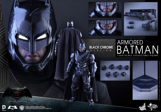 BvS: DoJ - 1/6th scale Armored Batman (Black Chrome Version)