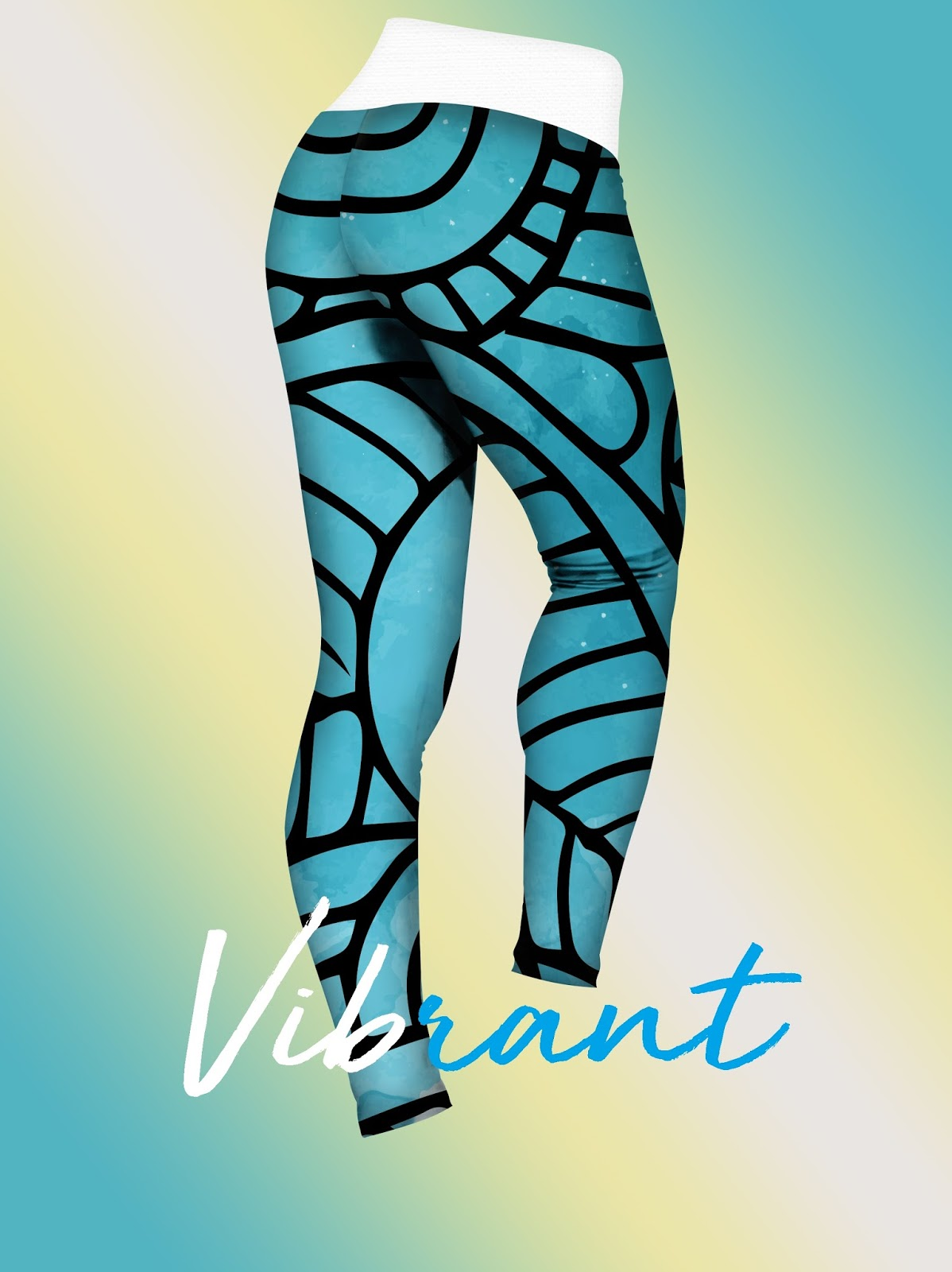 Vibrant leggings mock up blue leggings stylish leggings premium leggings photoshop mock up colorful leggings download