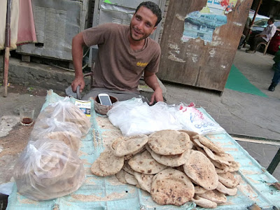 Ägyptisches Dorfbrot Fladenbrot Baladi Ägypten Brot Brotsorten
