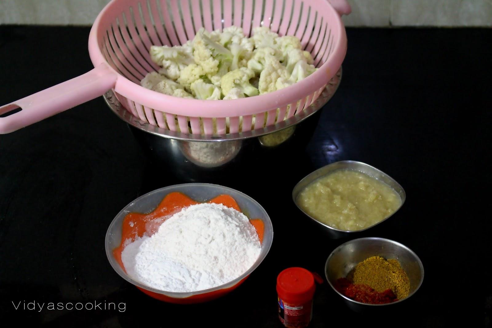 Vidyascooking street food style gobi fried rice recipe 14 tsp orange food color 1 12 tbsp ginger and garlic paste 1 tbsp garam masala 1 tbsp chilly powder salt as per taste forumfinder Image collections