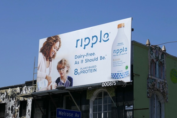 Ripple pea milk billboard