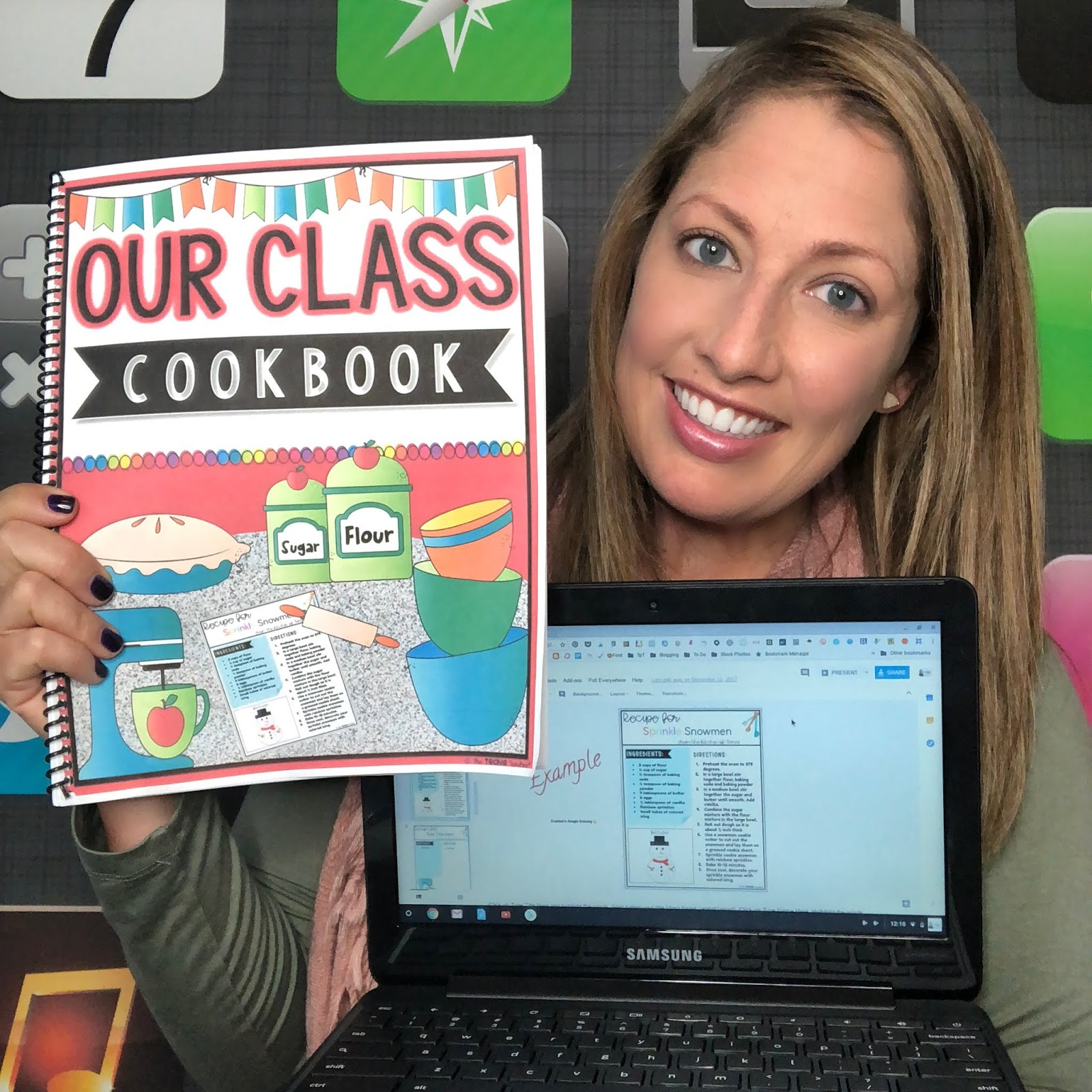Create a digital cookbook in Google Slides or PowerPoint for the holiday season. This makes a great expository writing activity!