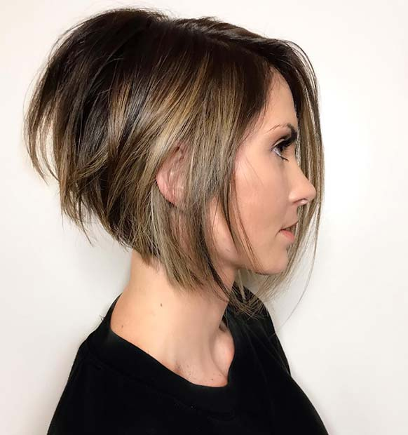 34 easy short stacked bob haircuts for thin hair to copy