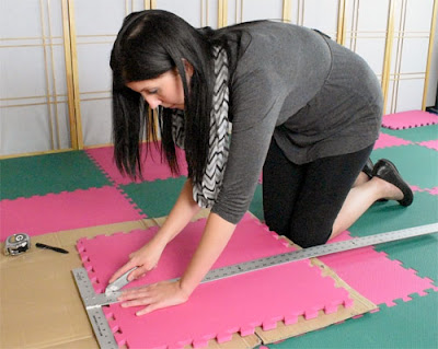 Greatmats how to cut foam floor tiles installation