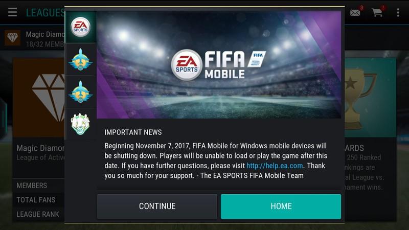 FIFA Mobile untuk Windows 10 Mobile