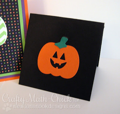 Mini Jack-o-Lantern Card created by Crafty Math Chick | Pick a Pumpkin by Newton's Nook Designs