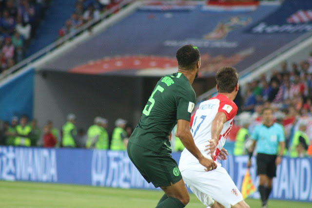 Ekong during Nigeria vs Croatia
