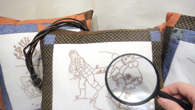 Вышитые подушки в стиле ретро: лоскутные подушки печворк, винтажные подушки