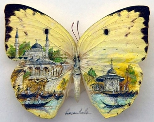 intricate miniature paintings by Hasan Kale