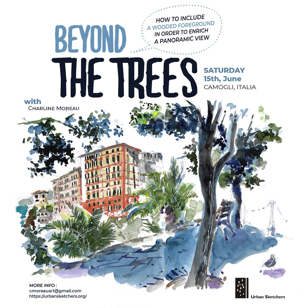 Usk Workshop Beyond The Trees Urban Sketchers