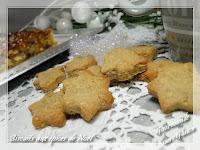 Biscuits aux épices de Noël sans gluten, sans lactose