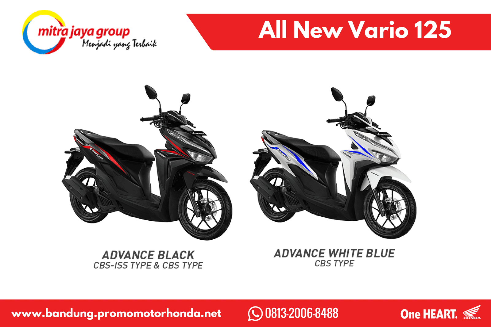 Kredit Motor Honda Vario 125 Cbs Iss New Esp Sonic White Red Kudus Harga 2018 Wilayah Bandung