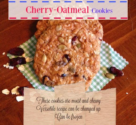 Chewy Cherry Oatmeal Cookies // Oh My Heartsie Girl