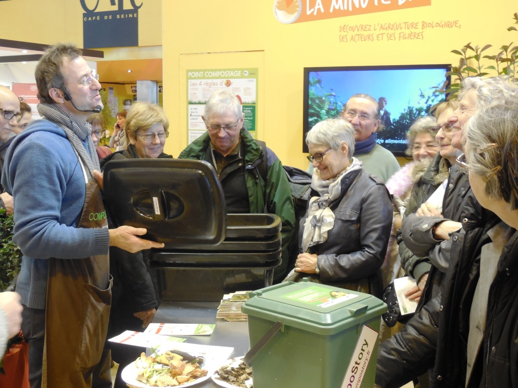 Compostory compostory tout bio au salon de l 39 agriculture for Salon bio paris 2016