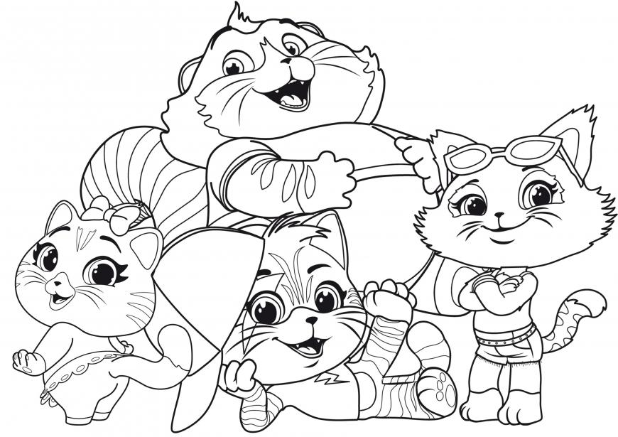 Desenhos da Lulu 44 gatos para