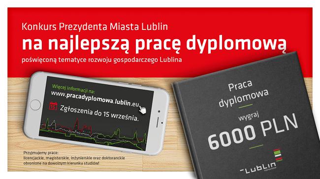 Konkurs na pracę dyplomową o Lublinie - plakat