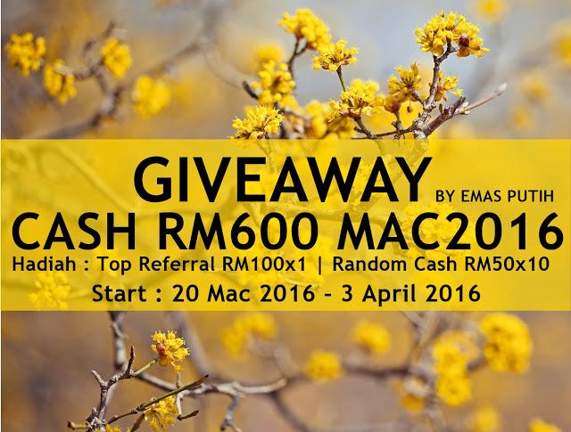 Giveaway Cash RM600 MAC2016 by Emas Putih
