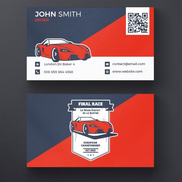 Car racing business card Free Psd