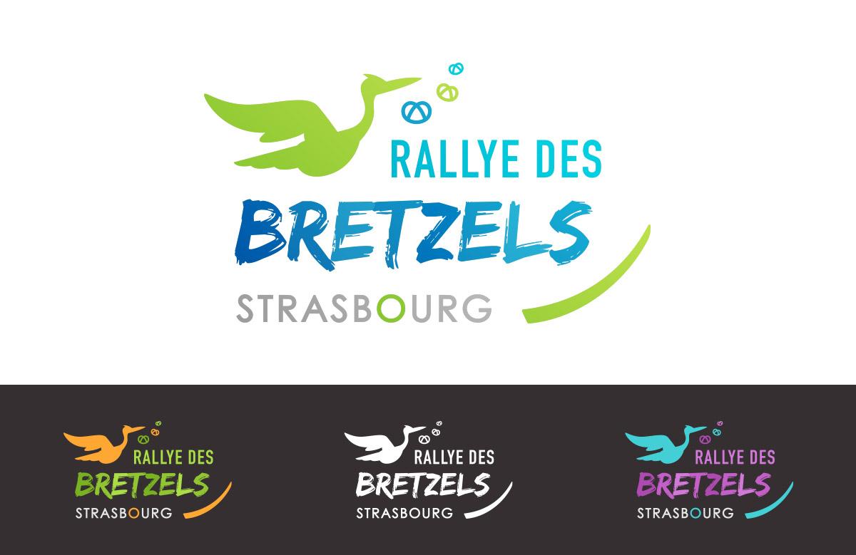 Création logo Rallye des Bretzels, jeu de piste à Strasbourg