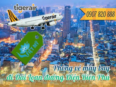 Phòng vé máy bay đi Đài Loan đường Điện Biên Phủ