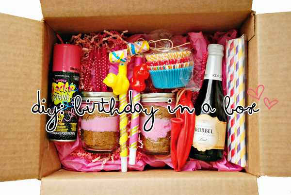 birthday box - super idea for long-distance buddies!
