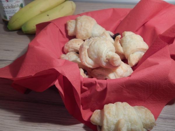 Banana e nocciole per croissant croccanti