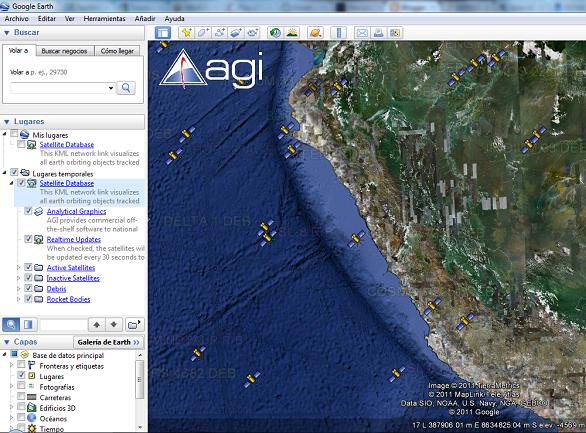 GEO GPS PER Satelites en tiempo real desde Google Earth en KMZ