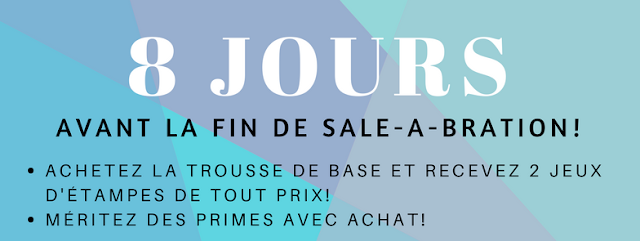 décompte avant la fin de la promotion Sale-a-bration 2018 Stampin' Up!