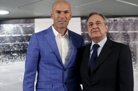 Zinedine Zidane pengurus baru Real Madrid
