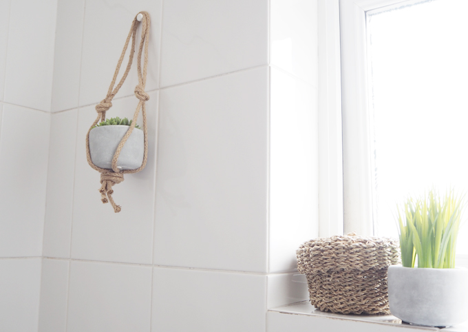 Interior Bathroom Makeover Using Sugru DIY Hanging Basket Tutorial
