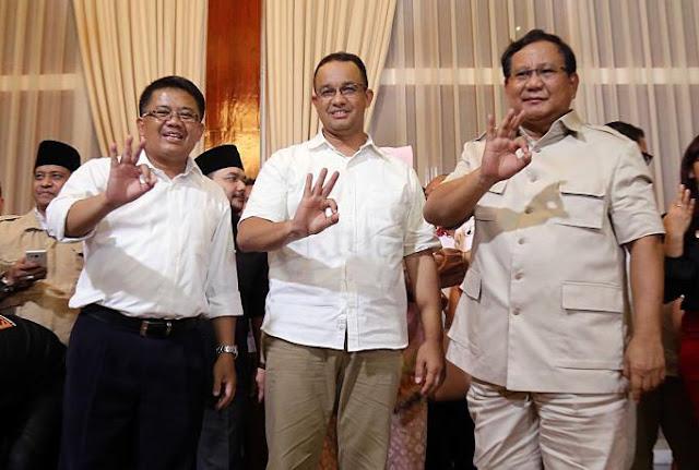Prabowo: Alhamdulillah Kita Punya Gubernur Jakarta Baru