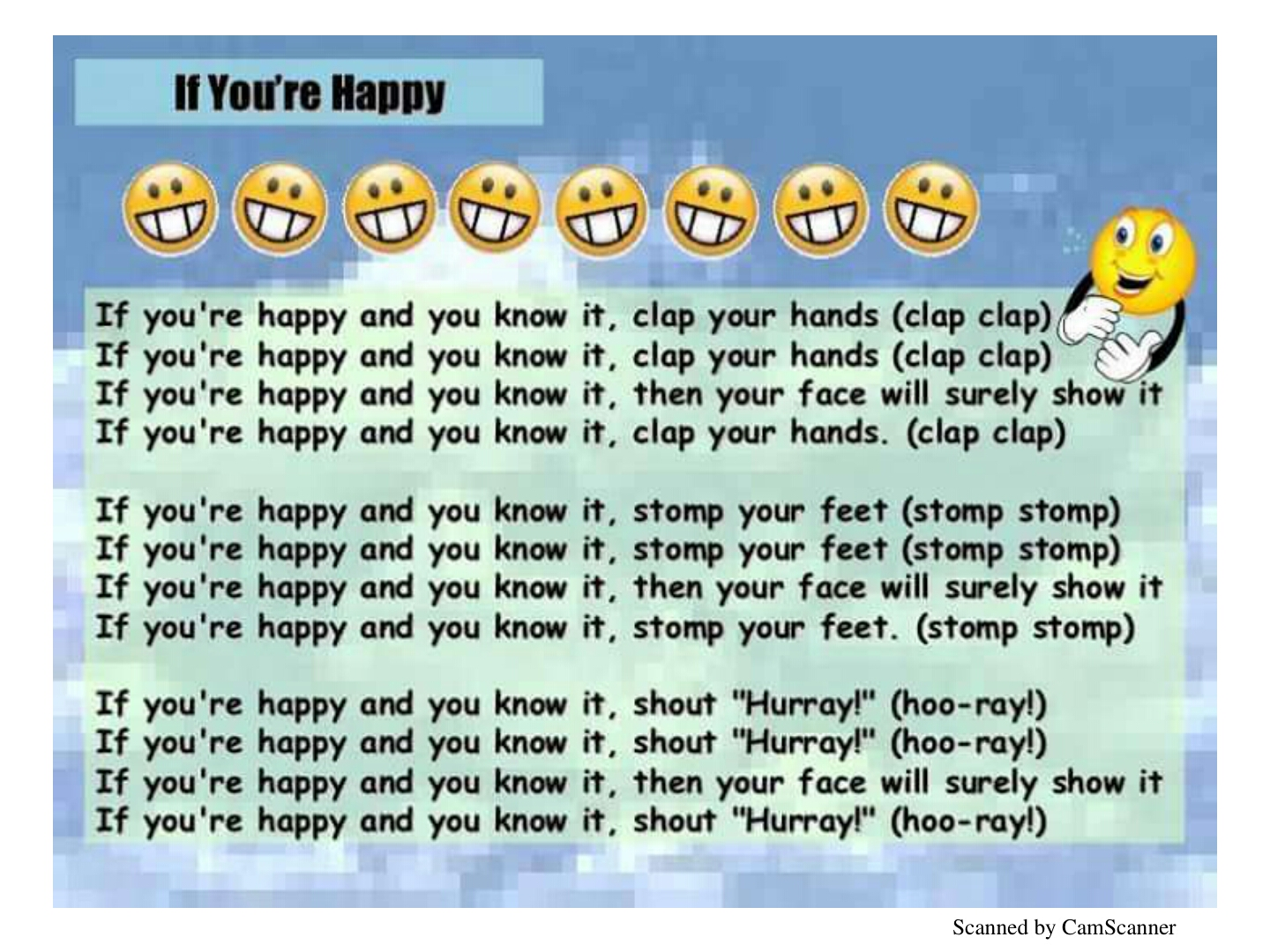 if your happy and you know clap your hands - HD 1440×1080