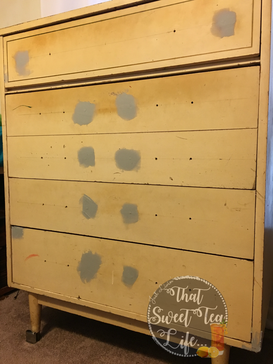 Girls Room Makeover Part 1 Mcm Chest And Peeling Paint