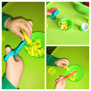 cut play dough