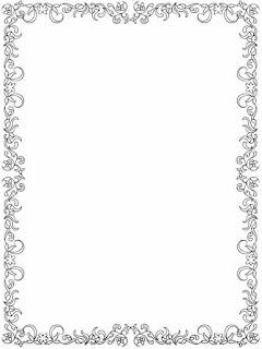 flower frame border to color