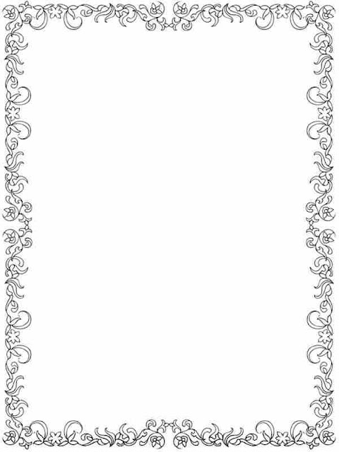 flower frame border to color
