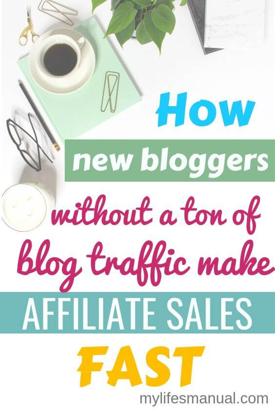 How new bloggers without a ton of blog traffic make affiliate sales fast. Step By Step Guide. Do you want to make affiliate sales for your new blog? Wondering how long does it takes to make money from affiliate marketing when you're blog traffic is low? Learn how to earn from affiliate marketing with a small audience and without a ton of blog traffic.