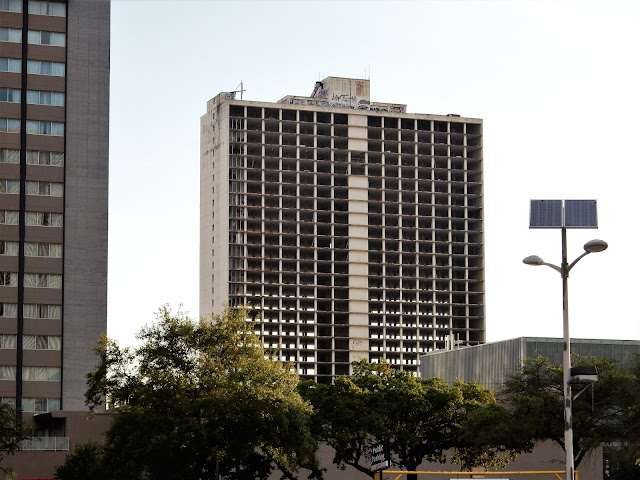 New Holiday Inn (left) and Erstwhile One (Center) Downtown Houston Texas