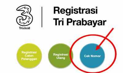 Cek Keberhasilan Registrasi kartu Tri