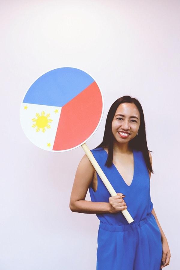 Blair Villanueva support local Philippine designs and creatives
