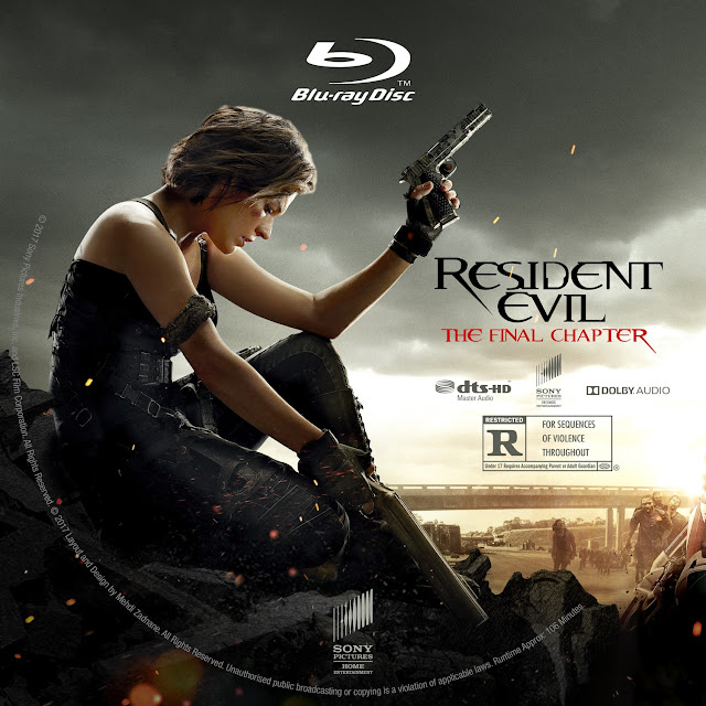 Resident Evil The Final Chapter Bluray Label