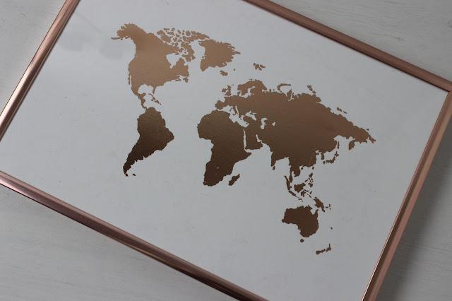 copper map print