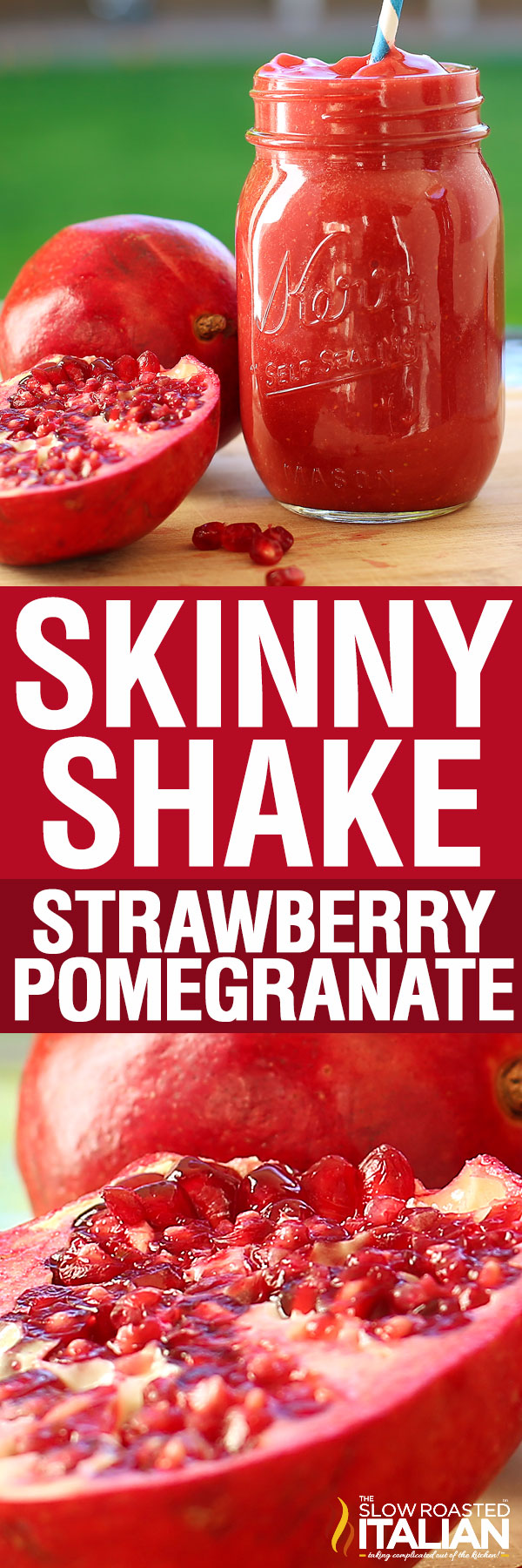 titled image for Pinterest shows a detoxifying drink called a Skinny Shake