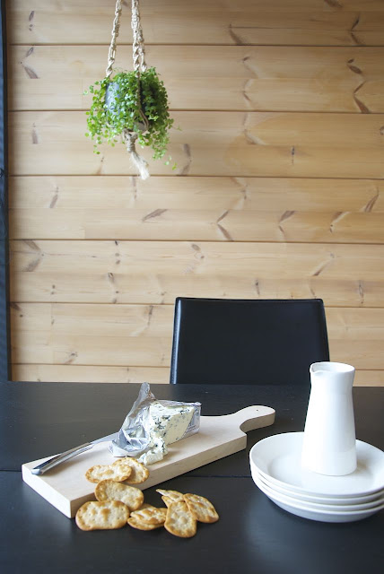 black wooden table-scandinavian-interior-design-kitchen
