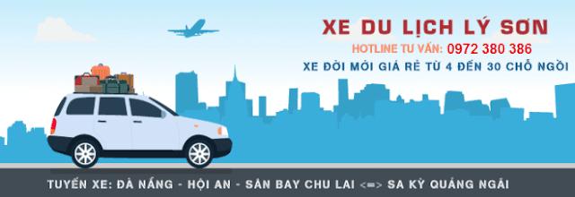Tuyến xe Đà Nẵng - Hội An - Sân Bay Chu Lai - Sa Kỳ - Quảng Ngãi