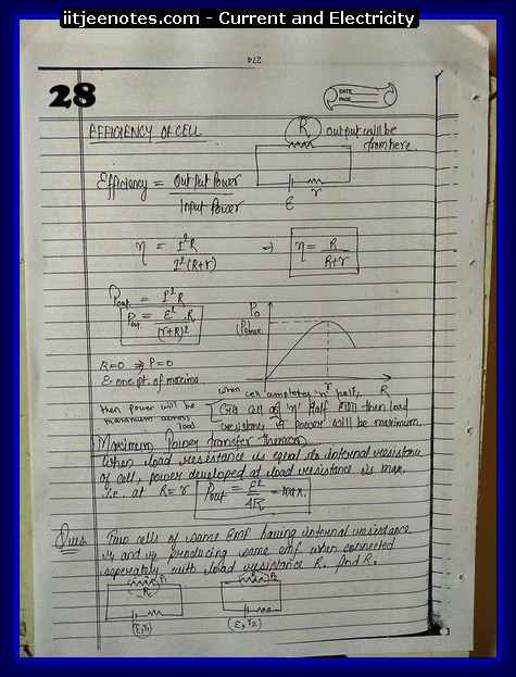 Current and Electricity Notes cbse3