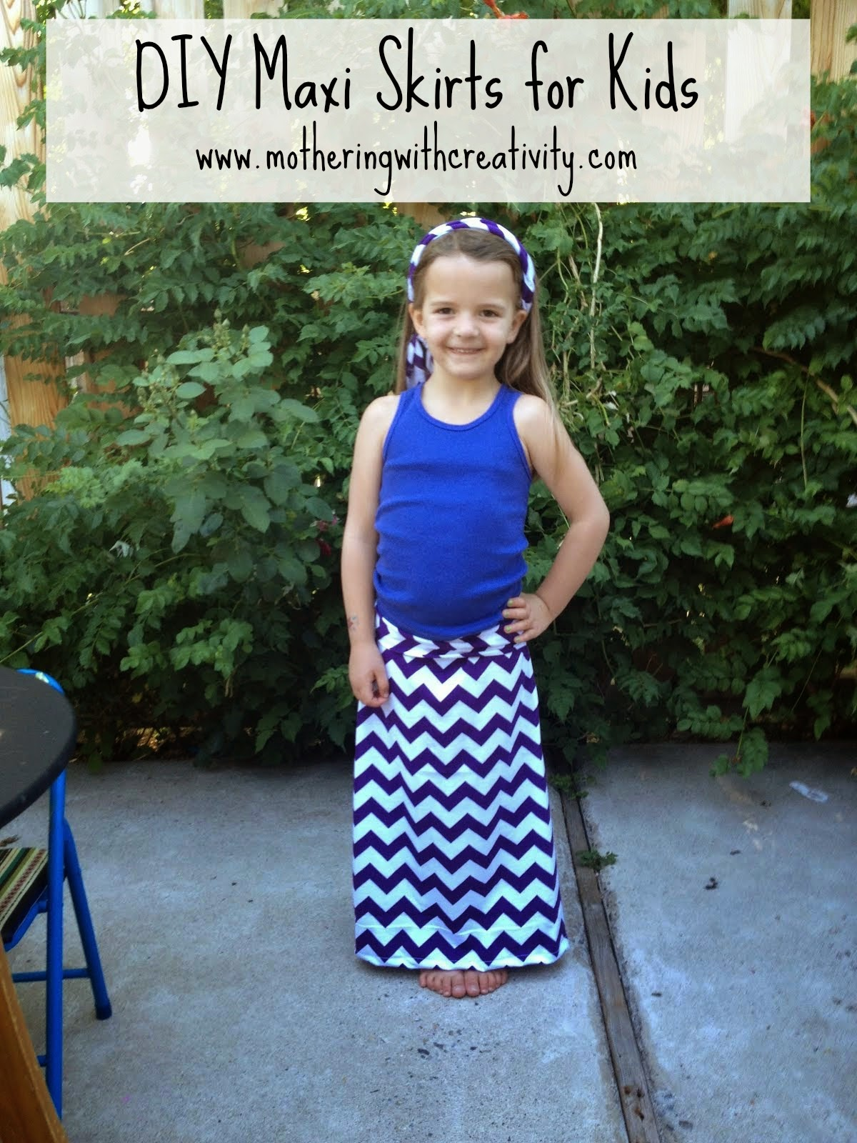 Mothering With Creativity Diy Maxi Skirts For Kids