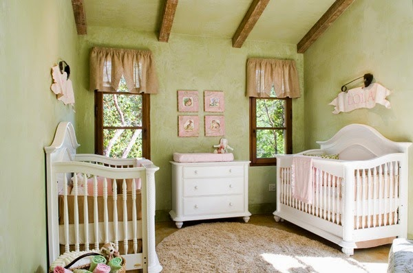 Dormitorios color verde para beb s dormitorios colores y - Habitacion infantil verde ...